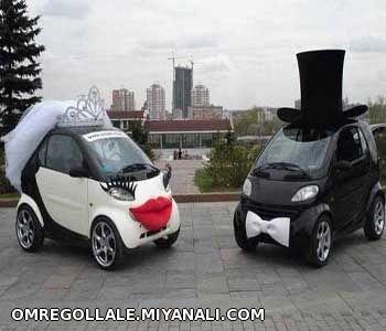 ماشین آقا دامادوعروس خانوم