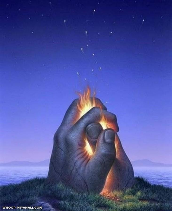بشر آنقدر با تاریکی خو گرفته اند ,نمیتوانندنور را تحمل کنند...