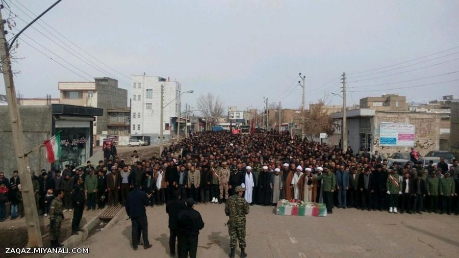 مراسم تشییع دو شهید گمنام در شهر ترکمانچای میانه .. امروز