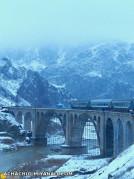 یک روز زمستانی پل قطار گچلیک