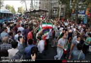 جشن و شادی مردم پس از پیروزی تیم ملی فوتبال ایران مقابل کره جنوبی.