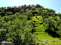 کوه های استان ایلام روستای عباس آباد