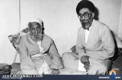 عکس حضرت آیت الله خامنه ای در کنار پدرش