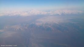 قله دماوند از داخل هواپیما